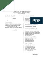 Spanier v. Freeh Civil Complaint