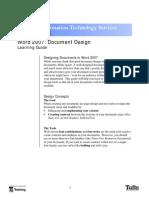 Word 07 Document Design