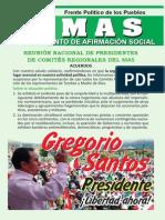 Conclusiones reunión de Presidentes del MAS