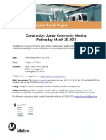 Regional Connector Construction Update Community Meeting Notice