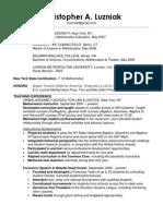 2015 resume online