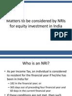 NRI Investment Considerations