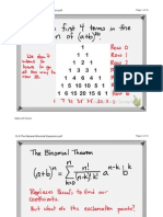 12-8 The Binomial Theorem