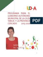 Programa UDA Sara Cuevas