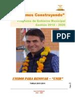 Programa Unir Rodrigo Paz