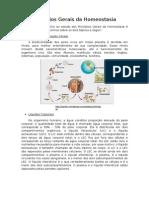 Resumo sobre principios gerais da homeostasia