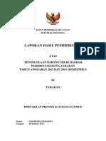 LHP BPK Pengelolaan BMD Kota Tarakan 2012-2013