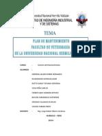 Plan de Mantenimiento Veterinaria-Informe