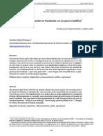 Autopresentación en Facebook - Un Yo Para El Público