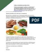 Dieta Baja en Carbohidratos Para Bajar de Peso