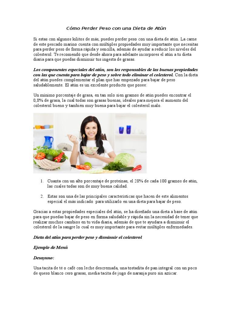Dieta para perder peso de forma rapida