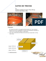 Filetes de Trucha Medidas PLATEADAS