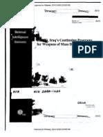 Iraq October 2002 NIE on WMDs (unedacted version)