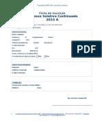 Ficha Inscrição - Processo Seletivo 2015A (Oficial)