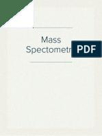 Mass Spectometry