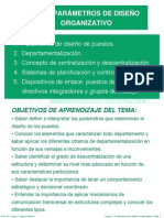 Tema 2 Parámetros de Diseño Organizativo