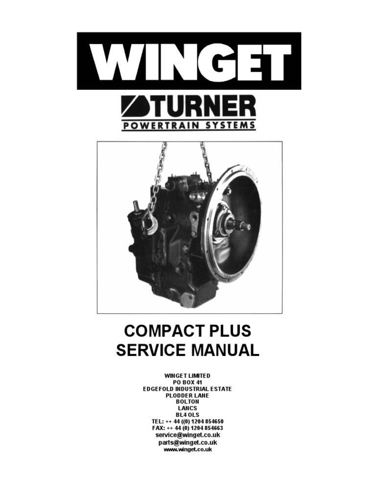 Turner Compact Plus Transmission Manual   Transmission