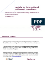 Emerging Models for International Remittances through Branchless Banking