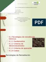 4.1 Tecnologias de Remediacion Termicas