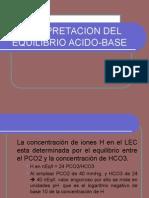 Interpretacion Del Equilibrio Acido Base