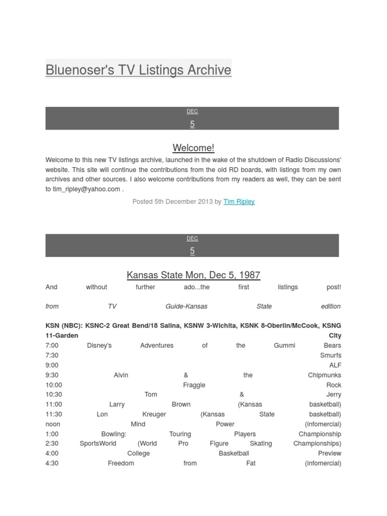 bluenoser's tv listings archive (1)