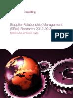 Supplier Relationship Management Research 2012-2013-9jan2013 0