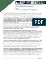 Cuestiones de Fondo Sobre La Crisis Global