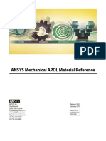 ANSYS Mechanical APDL Material Reference
