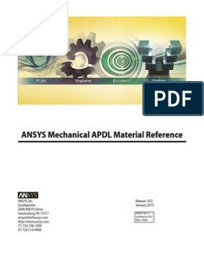 ANSYS Mechanical APDL Material Reference   Yield