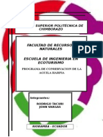 PROGRAMA DE CONSERVACION DEL AGUILA HARPIA