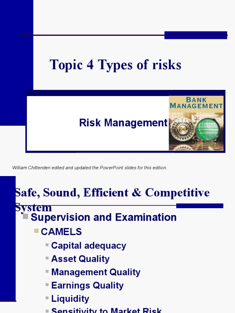 Topic Types Of Risks Market Liquidity Banks - Types of risk management