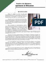 2015 Graduation Message Filipino