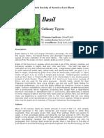 Basil (An herb Society of America Fact Sheet)