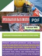2. PENANGANAN Ikan Dilaut