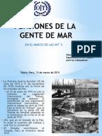 Pensiones de La Gente de Mar -  Convenio 71 OIT