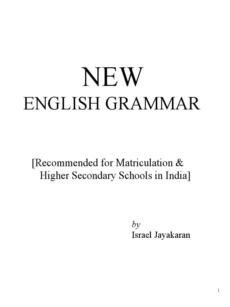 New english grammar for matriculation and higher secondary schools new english grammar for matriculation and higher secondary schools in inidia 1 part of speech verb baditri Choice Image