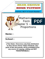 Mathematics Form 2 - Chapter 5