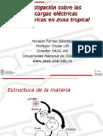 Investigación sobre las descargas eléctricas atmosféricas en zona tropical
