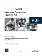 Basic Drive Programing - PF753