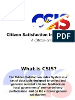 1 Overview of the Citizen Satisfaction Index
