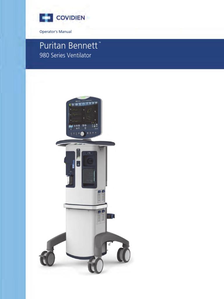 Puritan Bennett 980   Pulmonology   Respiratory System