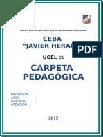 Carpeta Pedagogica Jh 2015