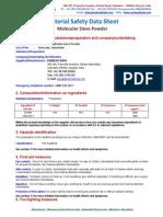 Molecular Sieve Powder MSDS