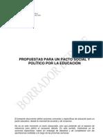 Propuestas Ministerio de Educación
