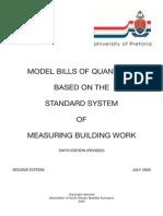 Model Bills of Quantities - 2005