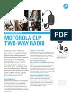 Motorola CLP Two-Way Radio Spec Sheet