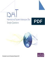 ISAT 11 Sample Questions Computer Based Format