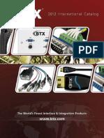 BTX11 Int'l Catalog 2012