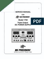 BK_Precision 1760 Service manual