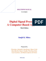 Digital signal processing principles algorothims and applications digital signal processing solution manual 3rd edition by mitra fandeluxe Image collections
